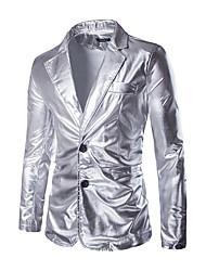 cheap -men's metallic 2-piece suit slim fit blazer jacket pants party prom set (xx-large, black)