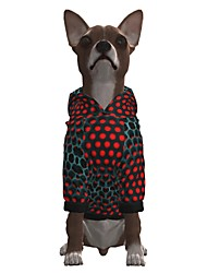cheap -Dog Hoodie Graphic Optical Illusion 3D Print Ordinary Fashion Casual / Daily Dog Clothes Puppy Clothes Dog Outfits Breathable Red Costume for Girl and Boy Dog Polyster S M L XL