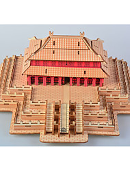 cheap -3D Puzzle Jigsaw Puzzle Model Building Kit Famous buildings Chinese Architecture DIY Simulation Wooden Chinese Style Classic Unisex Toy Gift / Wooden Model