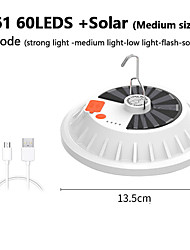 cheap -USB Rechargeable LED Lamp Bulb Solar Charging Lantern Portable Emergency Night Light for Market Outdoor Camping and Home