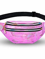 cheap -belt bag women belt bag metallic water-repellent bum bag 2 compartments shoulder bags girls shoulder bags mobile phone bag bag travel hiking pink