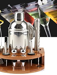 cheap -Insulated Cocktail Shaker Mixer Bartender Kit 12pcs 750ml/11pcs 750ml/27pcs 550ml Stainless Steel Bar Tool Set with Stylish Bamboo Stand Perfect Home Bartending Kit and Martini Cocktail Set