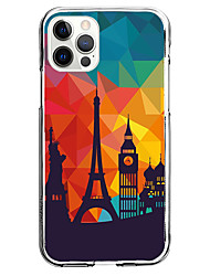 cheap -Architecture Graphic Phone Case For iPhone 12 iPhone 11 iPhone 12 Pro Max Unique Design Clear Protective Case Shockproof Back Cover TPU