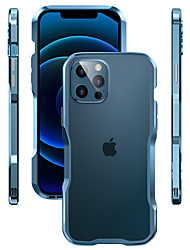 cheap -Cool Metal Case For Apple iPhone 12/11/SE2020 Metal Border Shockproof Back Cover Solid Colored Fashion Metal Case for iPhone 12 Pro Max XR XS Max iPhone 8 Plus 7