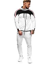 cheap -Men's jogging suit sports suit men's tracksuit fitness sports pants and training jacket model 1148 (m, white)
