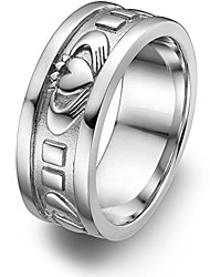 cheap -sterling silver men's claddagh wedding ring ums-6343 size: 11