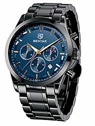 cheap -benyar men's watch timing quartz movement analog fashion business watch and 30m waterproof