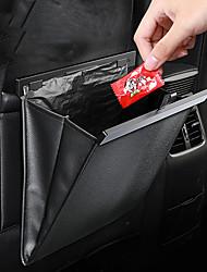 cheap -Baseus Car Seat Back Organizer PU Leather Garbage Storage Bag Auto Backseat Multi Pocket Hanging Pouch Car Organizer Accessories Black Brown