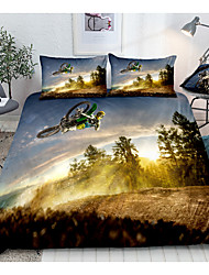 cheap -Sports Series Motorcycle Print 3-Piece Duvet Cover Set Hotel Bedding Sets Comforter Cover with Soft Lightweight Microfiber(Include 1 Duvet Cover and 1or 2 Pillowcases)