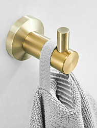 cheap -Robe Hook New Design Adorable Bathroom Hooks Stainless Steel Material Wall Mounted Golden 2pcs