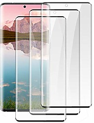 cheap -[3 pack]galaxy note 20 ultra screen protector[9h tempered glass][case friendly][hd clear] [ultrasonic fingerprint compatible][3d curved][bubble-free ]for samsung galaxy note 20 ultra 5g (6.9inch)