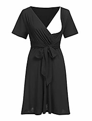 cheap -breastfeed keerads nursing baby maternity fashion short sleeve nightdress pregnancy dress(black,x-large)