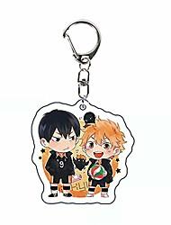 cheap -popular haikyuu!!! keychain cosplay pendant keyring anime volleyball boy key chains cosplay pendant fans(h01-6cm)