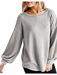 cheap -tops for women, women's long sleeve knit top o neck oversized sweater pullover, women jackets and coats (khaki m)