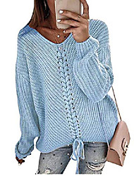 cheap -sweater women sweatshirt knitted long-sleeved shirts sweaters elegant v-necks loose long sleeves oversized sexy jumper top tops (a-white, xx-large)
