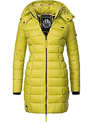 cheap -ladies transition quilted coat evening star light green size m