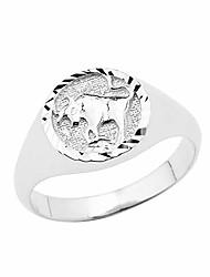 cheap -925 sterling silver taurus zodiac ring jewelry size 13.25