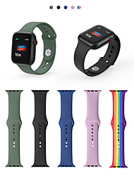 cheap -Watch Band for Apple Watch Series 6 / SE / 5/4 44mm  40mm / Apple Watch Series 3/2/1 38mm 42mm Apple Sport Band Silicone Wrist Strap