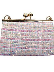 cheap -Women's Bags Polyester Evening Bag Sequin Chain Colorful 2020 Wedding Party Blue Yellow Blushing Pink