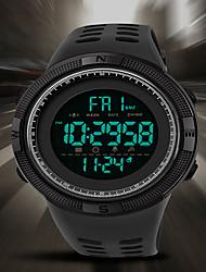 cheap -SANDA Men's Digital Watch Digital Sporty Classic Water Resistant / Waterproof Analog - Digital Black / Yellow White Black / One Year / Rubber / Japanese