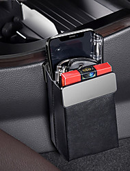cheap -Baseus Magic Car Storage Rack Bag Leather Car Phone Holder Auto Organizer Hanging Pouch Box Car Styling Interior Accessories Black
