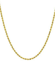 cheap -14k gold diamond cut rope chain necklace 1.5mm,14k gold chain for men and women, thin gold chain with lobster clasp, pure 14 karat gold necklace, 16-30'