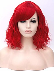 cheap -women short curly red synthetic cospaly wigs halloween costume wig