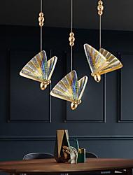 cheap -23 cm Single Design Pendant Light Colorful Butterfly Design Bedside Light Dining Room Restaurant Bar Living Room Metal Electroplated 220-240V
