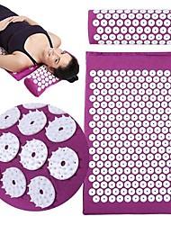 cheap -1set Yoga Mat Acupuncture Massage Mat Acupuncture Massage Mat Acupuncture Mat Relax Muscle Exercise Mat Acupuncture pillow