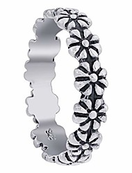 cheap -sterling silver daisy flower ring size 5
