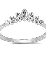 cheap -princess lotus flower marquise tiara ring size 6
