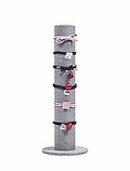 cheap -scrunchie holder organizer jewelry display stand hair accessories organizer hairband rack holder organizer tower(gray linen)