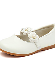 cheap -Girls' Flats Princess Shoes PU Little Kids(4-7ys) Big Kids(7years +) Daily Walking Shoes White Black Pink Fall Spring