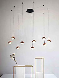 cheap -9-Light Modern Chandelier 9 Lights Hanging Lamp Dropping Pendant Ceiling Fixture Led Integrated Bulbs Included for Kichten Dinning Living Office Cafe Room