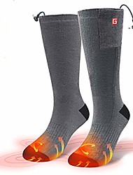 cheap -heating socks, double-sided heated socks rechargeable battery 3-level heating settings cotton socks for winter outdoor sport camping hiking m
