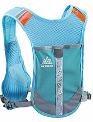 cheap -hydration backpack vest pack bag reflective running gear for men women trail marathon runner rucksack cycling hiking outdoor (fluorescent green)