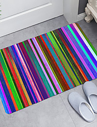 cheap -Color Striped Planks Digital Printing Floor Mat Modern Bath Mats Nonwoven Memory Foam Novelty Bathroom