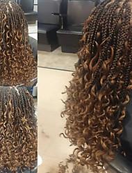 cheap -Twist Braids Pre-loop Crochet Braids Crochet Hair Braids Curly Box Braids Black Multi-color Synthetic Hair Braiding Hair