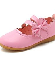 cheap -Girls' Flats Princess Shoes PU Little Kids(4-7ys) Daily Walking Shoes White Fuchsia Pink Fall Spring