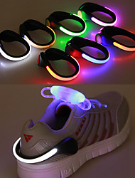 cheap -led shoes clip light,reflective safety gear with 2 modes for night running jogging, walking and camping fit for women men boys girls of 2 pack(white)