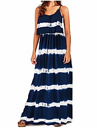 cheap -moonuy women tie-dye print patchwork dress fashion v-neck sleeveless loose casual long dress suspenders dress holiday dress summer fashion skirt dress strap dress blue