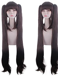 cheap -Cosplay Costume Wig chocolate Natural Straight With Bangs Wig Long Brown Synthetic Hair Women's Anime Cosplay Creative Brown