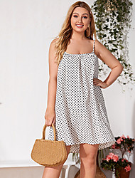 cheap -Women's Plus Size Print Print Casual Sleeveless Summer Short Mini Dress A Line Dress