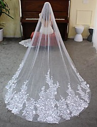 cheap -One-tier Elegant & Luxurious / Lace Wedding Veil Cathedral Veils with Solid Lace / Tulle