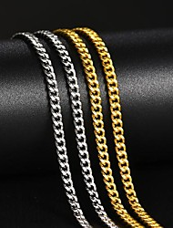 cheap -chain link necklace cuban chain necklace for women men 18inch