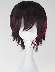 cheap -Synthetic Wig Cosplay Wig Straight With Bangs Wig Short Brown Synthetic Hair 12 inch Men's Fashionable Design Cosplay Comfortable Blonde Brown
