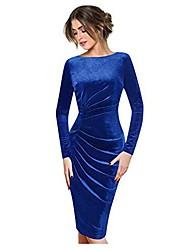 cheap -bumplebee velvet dress ladies evening dresses large sizes wrap dress elegant long sleeves round neck casual party dresses festive dress ball gown