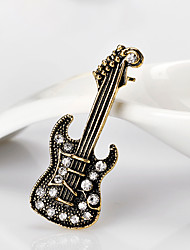 cheap -Women's Brooches 3D Guitar Fashion Gold Plated Brooch Jewelry Gold Silver For Christmas Gifts Wedding Party Dress Party & Evening New Year