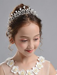 cheap -Bright Party Pearl / Rhinestone / Alloy Headpiece with Crystals 1 pc Special Occasion / Birthday Headpiece