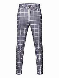 cheap -Men's Golf Workout Pants / Trousers Breathable Lightweight Soft Athleisure Outdoor Winter Cotton Gray Black / Micro-elastic